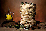 Grilled flat bread with rosemary and olive oil.