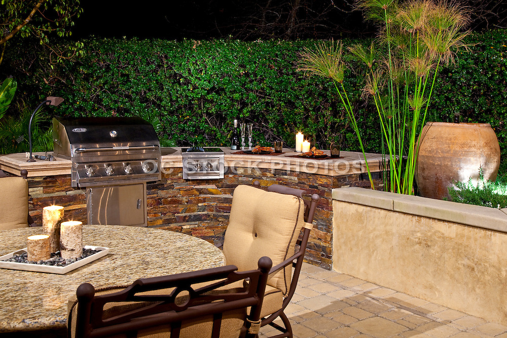 Custom Patio With Barbecue