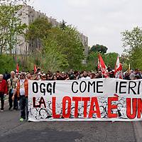 Manifestazione  per la Liberazione dal nazi fascismo a Tor Sapienza