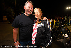 Roadside Marty Davis  at Bling's Cycle party during the 78th annual Sturgis Motorcycle Rally. Sturgis, SD. USA. Tuesday August 7, 2018. Photography ©2018 Michael Lichter.