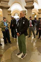 Gary Allen's Maine to DC run; day-after tour of the Capitol building stands on plumb line of rotunda