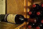 New York, NY, Sept. 28, 2013. Hector Perez, wine director of Casa Mono, at work during dinner. A magnum of Viña Tondonia Gran Reserva Rioja, 2001, in the cellar.