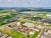 Nederland, Noord-Holland, Alkmaar, 07-05-2021; Industriegebied Boekelermeer. Terrein van Sortiva, recycling en verwerken van afval voor hergebruik.<br /> Industrial area Boekelermeer. Sortiva site, recycling and processing waste for reuse.<br /> luchtfoto (toeslag op standard tarieven);<br /> aerial photo (additional fee required)<br /> copyright © 2021 foto/photo Siebe Swart