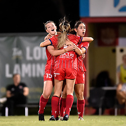 BRISBANE, AUSTRALIA - MARCH 12:  during the NPL Queensland Senior Women's Round 1 match between Olympic FC and Virginia United on March 12, 2021 in Brisbane, Australia. (Photo by Patrick Kearney)