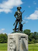 Minute Man Statute, Minute Man National Historic Site, Concord, Massachusetts, USA.