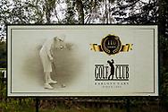 21-09-2015: Golf Resort Karlovy Vary in Karlovy Vary (Karlsbad), Tsjechië.<br /> Foto: Bord oude golfclub