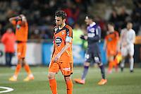 Deception Yann JOUFFRE - 18.04.2015 - Lorient / Toulouse - 33eme journee de Ligue 1<br />Photo : Vincent Michel / Icon Sport
