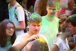 June 24, 2017 - Warsaw, Poland - Holi festival held at the beginning of summer holidays near Vistula river. (Credit Image: © Madeleine Lenz/Pacific Press via ZUMA Wire)