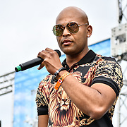Ivan Antalika performs at the 10th-year-anniversary celebration Mauritius Open Air Festival (MOAF2019) biggest and non-stop performs with food from all over the globe and craft at Trent Park, on 14 July 2019, London, UK.