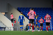GOAL 0-3, Sunderland attacker Charlie Wyke (9) during the EFL Sky Bet League 1 match between AFC Wimbledon and Sunderland at Plough Lane, London, United Kingdom on 16 January 2021.