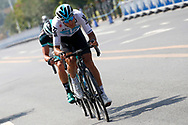 Gianni Moscon (ITA - Team Sky), Peter Kennaugh (GBR - Bora - Hansgrohe) during the Tour of Guangxi 2018, stage 1, Beihai - Beihai 107,4 km on October 16, 2018 in Beihai, China - Photo Luca Bettini / BettiniPhoto / ProSportsImages / DPPI