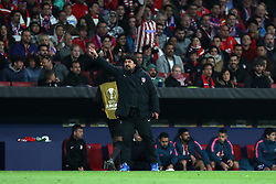 May 3, 2018 - Madrid, Spain - Assistant coach GERMAN BURGOS of Atletico de Madrid during the UEFA Europa League, semi final, 2nd leg football match between Atletico de Madrid and Arsenal FC on May 3, 2018 at Metropolitano stadium in Madrid, Spain (Credit Image: © Manuel Blondeau via ZUMA Wire)
