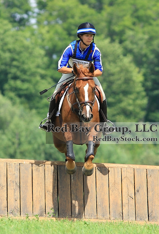 Michele Mueller and Spartans Swagman at Grandview Horse Trials held August 1 - 2, 2009 in Hawkestone, Ontario.