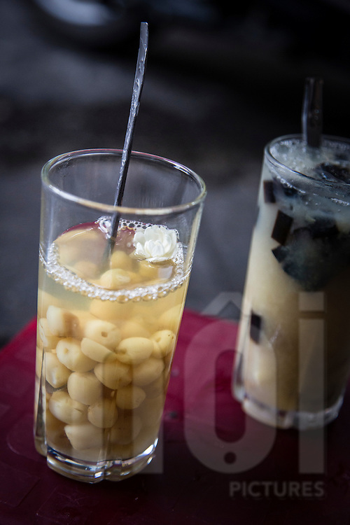 Glasses of Che, a sweet traditional Vietnamese drink. Hanoi, Vietnam, Southeast Asia