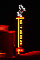 The Whitehorse Inn neon sign at night