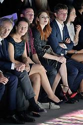 September 28, 2016 - Paris, France - Elodie FREGE et son ami a sa droite - Etam Live Show 100ans - 27 septembre 2016 - Centre Georges Pompidou - Paris - France (Credit Image: © Visual via ZUMA Press)