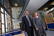 Magazine feature - Oakgrove School, Milton Keynes-<br /> Megan Crawford, Chair NLG and Peter Barnes, Headteacher, NLE
