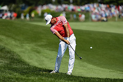 August 10, 2018 - St. Louis, MO, U.S. - ST. LOUIS, MO - AUGUST 10:  Gary Woodland (USA) plays a shot from the rough on the fourth hole during Round 2 of the PGA Championship August 10, 2018, at Bellerive Country Club in St. Louis, MO.  (Photo by Tim Spyers/Icon Sportswire) (Credit Image: © Tim Spyers/Icon SMI via ZUMA Press)