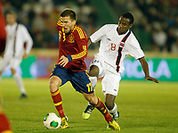 Spain's Ignacio Camacho (l) and Norway's Ibrahim during international sub21 match.March 21,2013. (ALTERPHOTOS/Acero)