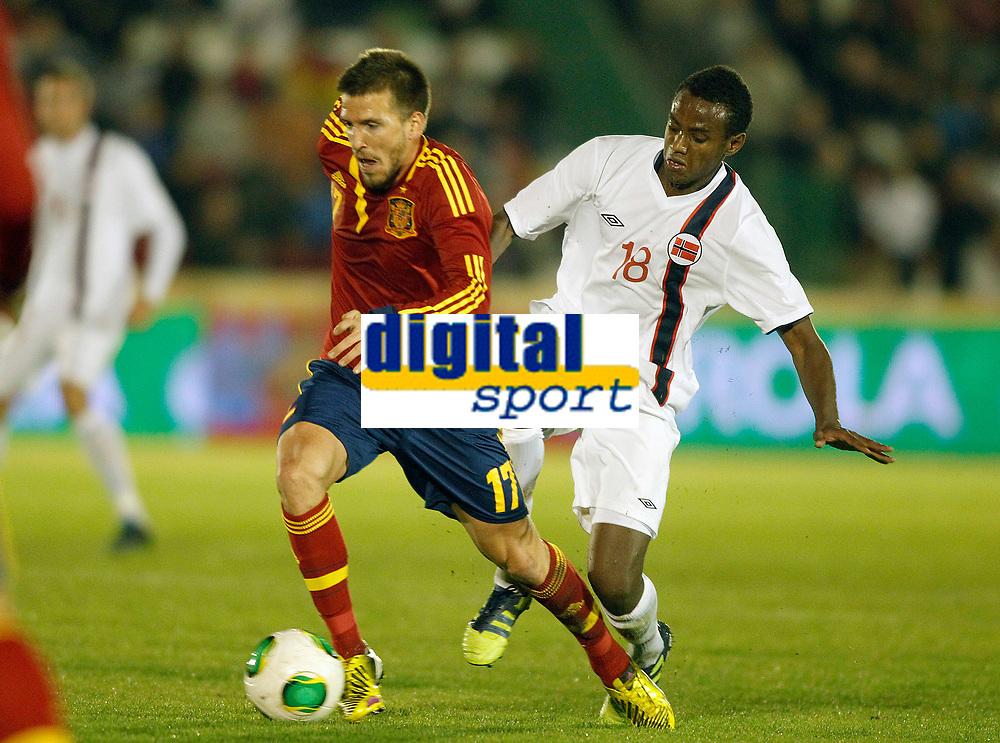 Spain's Ignacio Camacho (l) and Norway's Ibrahim during international sub21 match.March 21,2013. (ALTERPHOTOS/Acero)