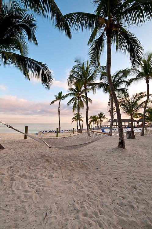 Hammock in the beach in Nassau, the Bahamas.