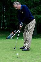 DIEPENVEEN - 4ball voor Golfers Magazine tussen Jan Heemskerk, Gerardlouter , Nienke Nijenhuis en Dewi-Claire Schreefel p[ de Sallandsche Golfclub in 2002. COPYRIGHT KOEN SUYK