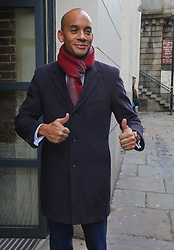 © Licensed to London News Pictures. 14/11/2019. London, UK. Chuka Umunna arrives at Glaziers Hall, London for the Lib Dems Press Conference. Luciana Berger and Chuka Umunna unveil the Lib Dems party's Plan for Equalities and Human Rights. The plan is at the heart of the party's vision to build a brighter future for everyone. Photo credit: Alex Lentati/LNP