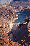 Aerial view of the Hoover Dam, NV.