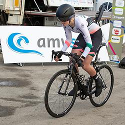 11-03-2021: Wielrennen: Healthy Ageing Tour: Lauwersoog. <br />Leonie Bos