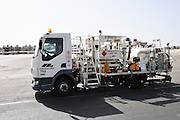 Israel, Ben-Gurion international Airport, Aeroplane refuelling vehicle