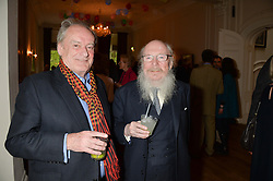 Left to right, the 17th VISCOUNT GORMANSTON and The HON.GARECH BROWNE at a party to celebrate the publication on 'The Ape Has Stabbed Me' by Vincent Poklewski Koziell held at The Polish Club, 55 Exhibition Road, London on 1st May 2014.
