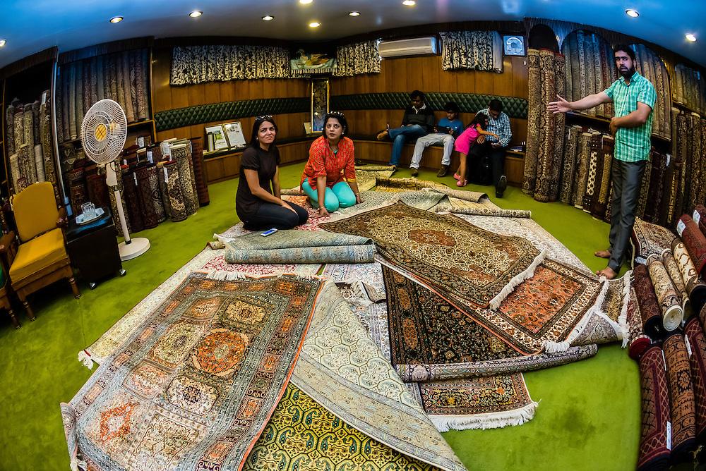 Ali Shah Carpets, Srinagar, Kashmir, Jammu and Kashmir State, India.