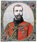 Tsar Nicholas II of Russia (1868-1918) at the time of his accession to the throne on the death of his father Alexander III,  l November 1894.  From 'Le Petit Journal', Paris, 11 November 1894.