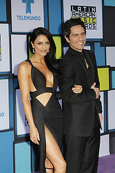 HOLLYWOOD, CA - OCTOBER 06: Aislinn DErbez and husband attends the Telemundo's Latin American Music Awards 2016 held at Dolby Theatre on October 6, 2016. Byline, credit, TV usage, web usage or linkback must read SILVEXPHOTO.COM. Failure to byline correctly will incur double the agreed fee. Tel: +1 714 504 6870.