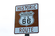 Historic Route 66 sign in Missouri. Missoula Photographer