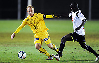 Fotball , 8. mars 2012, Privatkamp , Sogndal - Bodø/Glimt<br />  <br /> Tommy Knarvik , Glimt<br /> <br /> Stephane Diarra Badji  , Sogndal ,