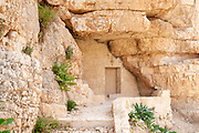This Hermit's cave at Saint Sabbas, was used by Sabbas the Sanctified in 483. Mar Saba is now a Greek Orthodox monastery overlooking the Kidron Valley halfway between Jerusalem and the Dead Sea