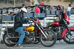 Cooks Corner after the Born Free Vintage Chopper and Classic Motorcycle Show. Trabuco, CA. USA. Sunday, June 29, 2014.  Photography ©2014 Michael Lichter.
