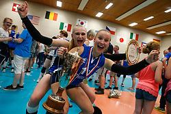 20180509 NED: Eredivisie Coolen Alterno - Sliedrecht Sport, Apeldoorn<br />Christie Wolt (1) of Sliedrecht Sport, Ana Rekar (11) of Sliedrecht Sport <br />©2018-FotoHoogendoorn.nl