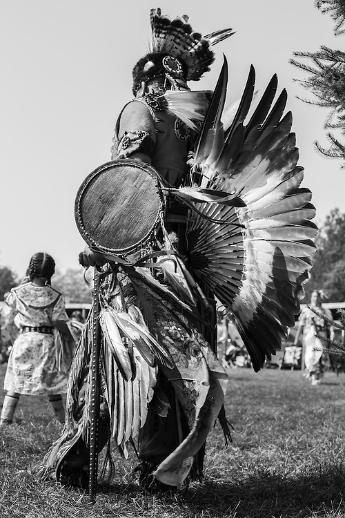 Father and daughter at a Native American Pow Wow.