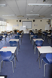 Exam room, secondary school UK 2018