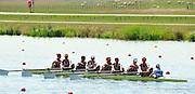 Eton Dorney, Windsor, Great Britain,..2012 London Olympic Regatta, Dorney Lake. Eton Rowing Centre, Berkshire[ Rowing]...Description; . GBR W8+.  Start Area, Crews Training. 12:04:00   Wednesday  25/07/2012..[Mandatory Credit: Peter Spurrier/Intersport Images].