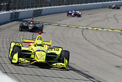 July 8, 2018 - Newton, Iowa, United States of America - SIMON PAGENAUD (22) of France battles for position during the Iowa Corn 300 at Iowa Speedway in Newton, Iowa. (Credit Image: © Justin R. Noe Asp Inc/ASP via ZUMA Wire)