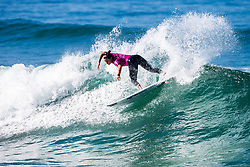 Johanne Defay (FRA) advanced directly to Round 3 of the 2018 Roxy Pro France after winning Heat 6 of Round 1 in Hossegor, France.