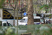 View of the Bataclan from behind the park area<br />