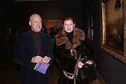 Lord and Lady Foster. Turner Whistler Monet, exhibtion opening dinner, Tate Britain. 7 February 2005, ONE TIME USE ONLY - DO NOT ARCHIVE  © Copyright Photograph by Dafydd Jones 66 Stockwell Park Rd. London SW9 0DA Tel 020 7733 0108 www.dafjones.com