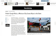 """""""Under Gang's Rule, a Mexican City Loses Hope in the State"""", The New York Times, Mexico, January 16, 2014. Photographs by Rodrigo Cruz."""