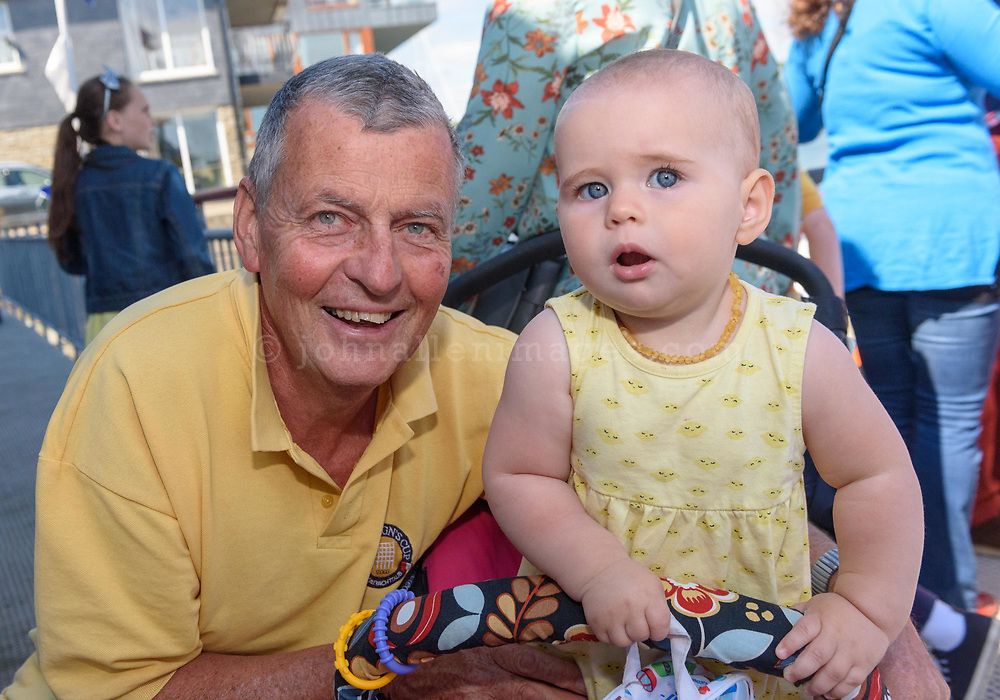 Ewan Tubridy and Rudy Bartle at the Kinsale RNLI open day over the Bank Holiday weekend in Kinsale.<br /> Picture. John Allen