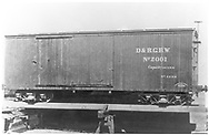 """Builder's photograph of box car #2001 - class 2, built 1872 by Billmeyer and Small of York, PA.<br /> D&RG  York, PA  1872<br /> In book """"Narrow Gauge Pictorial, Vol. III: Gondolas, Boxcars and Flatcars of the D&RGW"""" page 95"""