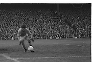Kerry goalie grabs the ball as it rolls to his goal during the All Ireland Senior Gaelic Football Final Dublin v Kerry in Croke Park on the 26th September 1976. Dublin 3-08 Kerry 0-10.